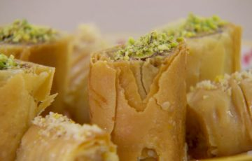 Baklava recipe with Rose and Pistachio