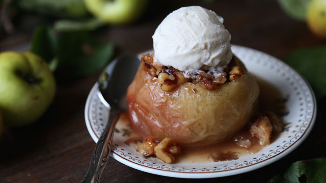 Maple Walnut Baked Apples recipe