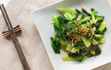 Tatsoi with Oyster Sauce recipe