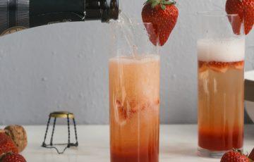 Strawberry Rhubarb Bellini Recipe