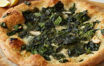 Spinach and Three Cheese Pizza Recipe