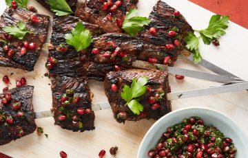 pomegranate steak kebab