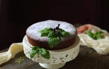 basil chocolate cake
