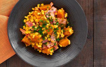 Warm Corn and Kabocha Salad