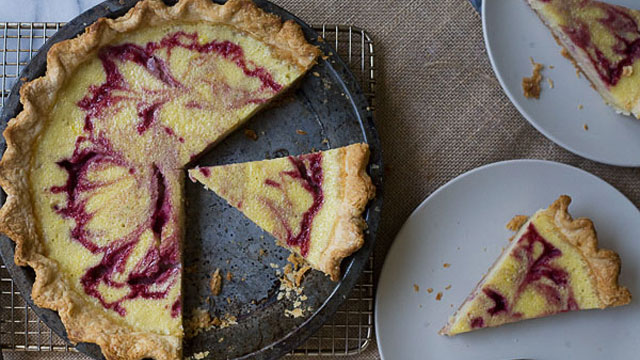 Raspberry Buttermilk Pie recipe