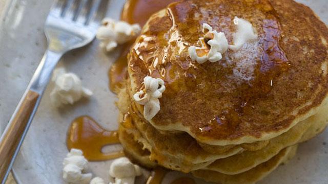 Buttered Popcorn Pancakes recipe