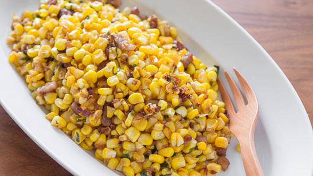 Corn with Bacon Vinaigrette recipe