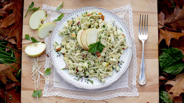 Celeriac Apple Slaw recipe