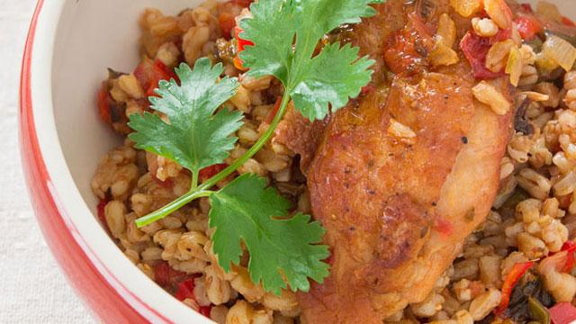 Farro Con Pollo recipe