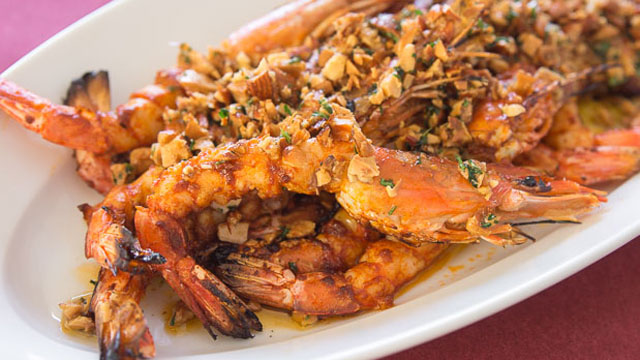 Grilled Almond Shrimp recipe