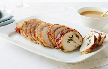 Roasted Rolled Turkey Breast with Herbs