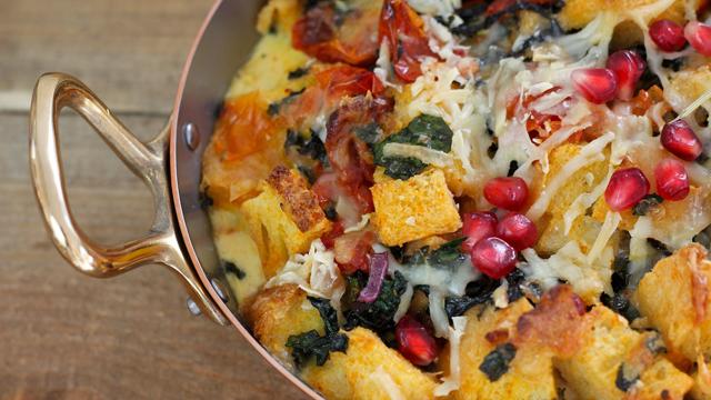 Kale and Sun-Dried Tomato Strata recipe
