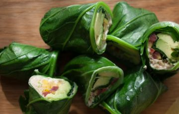 Collard Green Wraps recipe