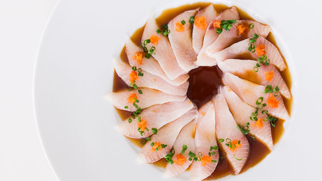 Kanpachi Sashimi Spicy Ponzu recipe