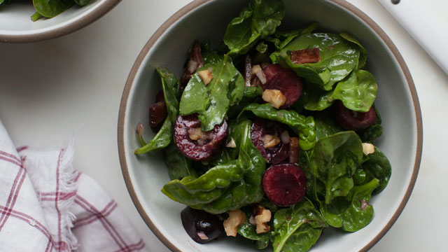 Cherry Spinach Salad recipe
