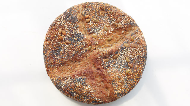 No-Knead Seeded Overnight Bread recipe