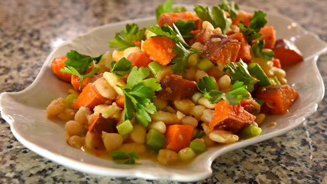 Sweet Potato and Lima Beans