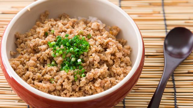 Ginger Miso Chicken Soboro recipe