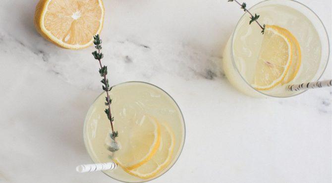lemon and thyme spritz