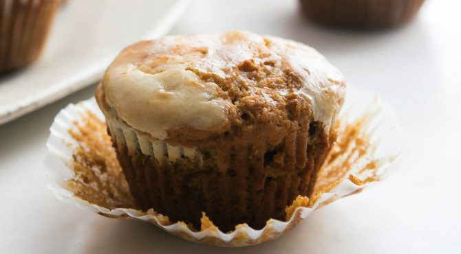Pumpkin Cheesecake Muffins horizontal