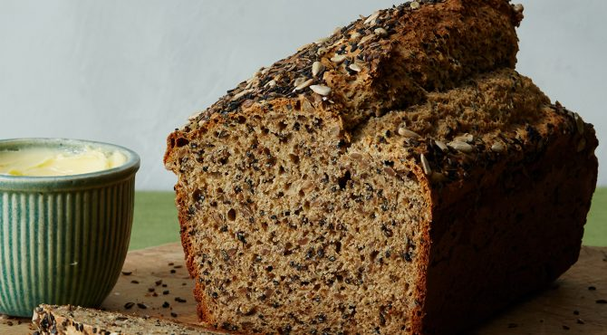 Seeded Savory Quickbread Recipe